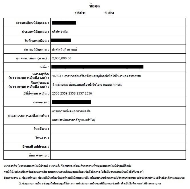 タイ企業の財務調査
